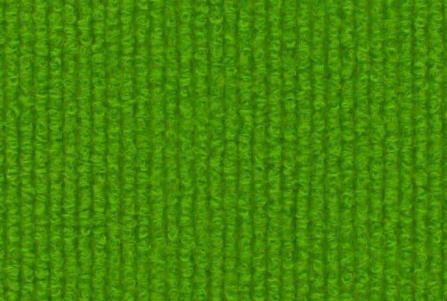 Bright green carpet